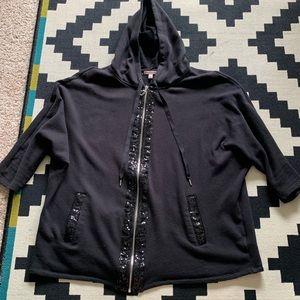 Juicy Couture Black Sequin Hoodie L